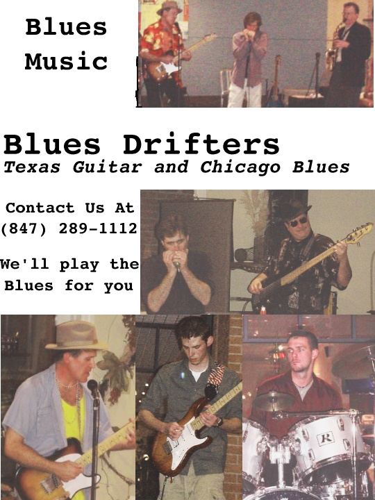 Blues Drifters brochure for the Chicago and Dallas based Blues Band.
